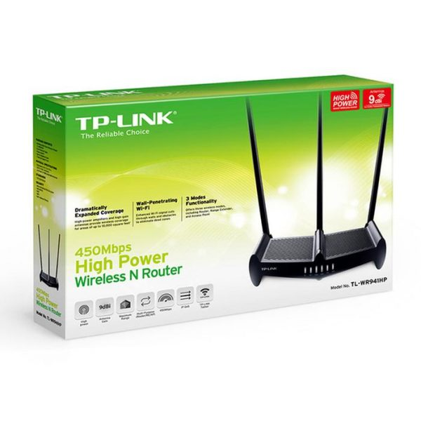 ROUTER TP LINK TL WR941HP  450MBPS 3 ANTENAS