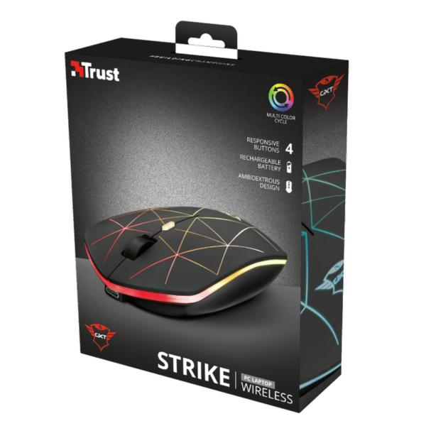 MOUSE INALAMBRICO TRUST GXT 117 STRIKE NEGRO GAMER