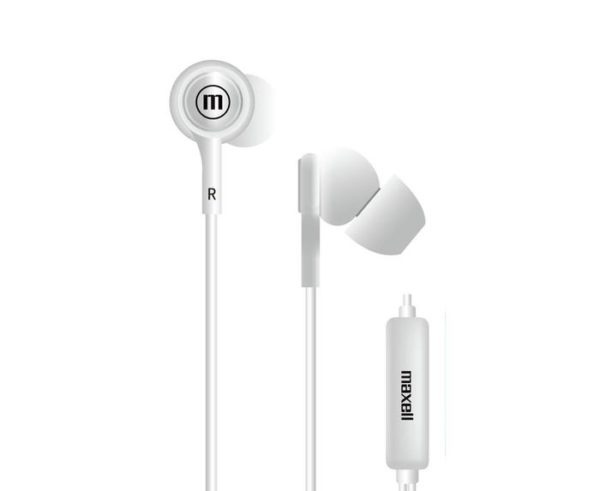 AUDIFONO MAXELL IN TIPS IN EAR STEREO BUDS  BLANCO